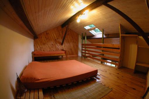 chambre de 4 couchages sur mezzanine